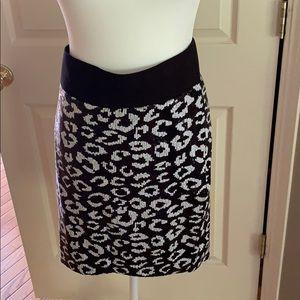Torrid Sequined Animal Print Mini Skirt
